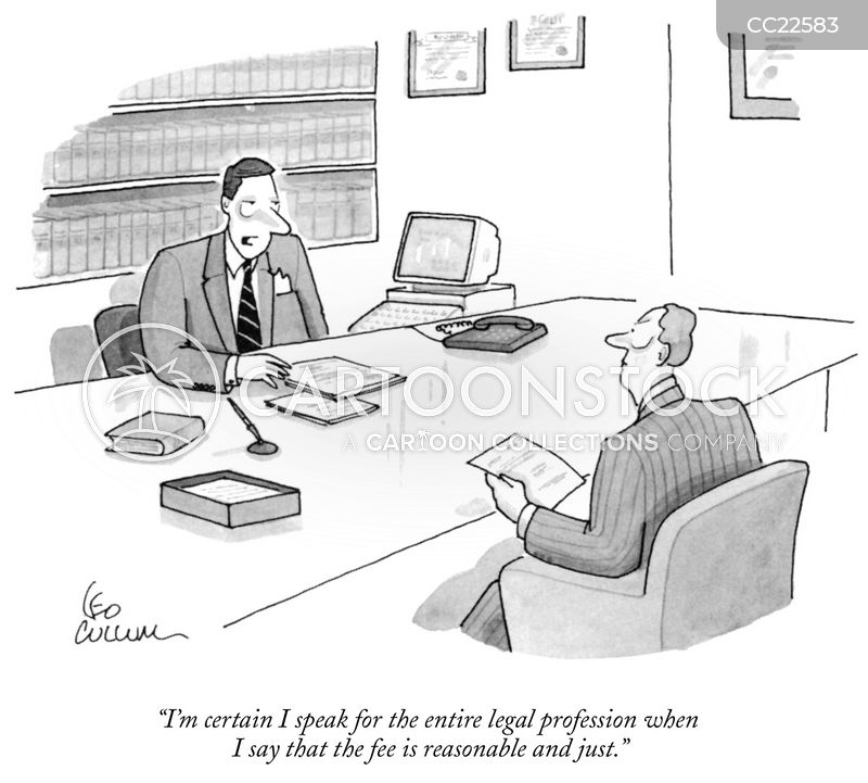 legal representatives cartoon
