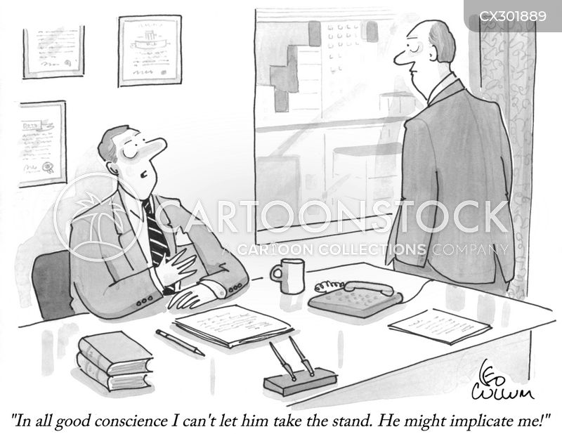 shady lawyer cartoon