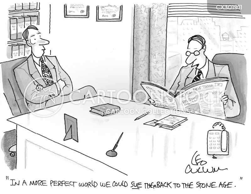 litigate cartoon