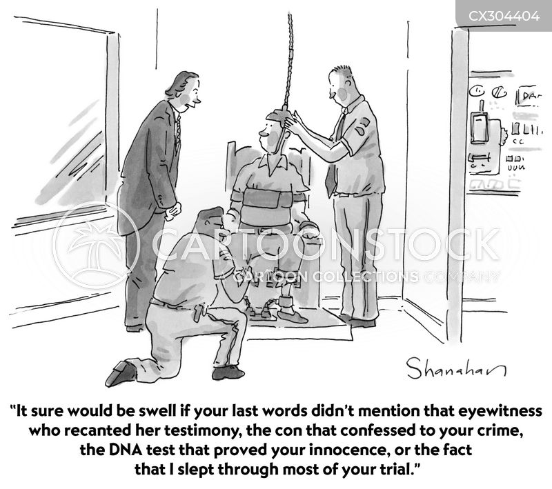 sentenced to death cartoon