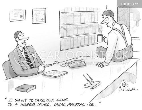 practicing law cartoon
