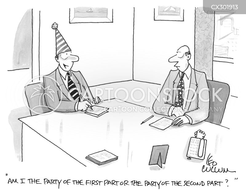 Litigation cartoon