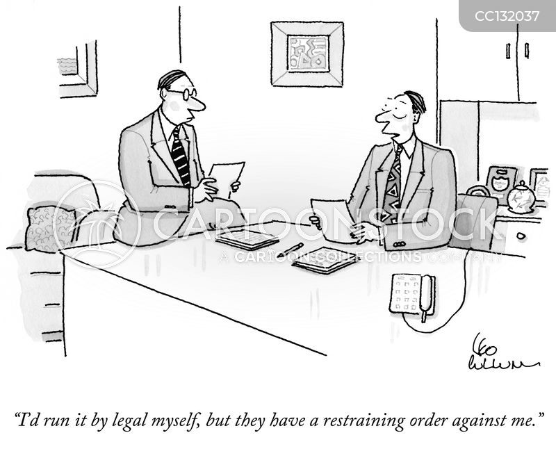 restraining orders cartoon