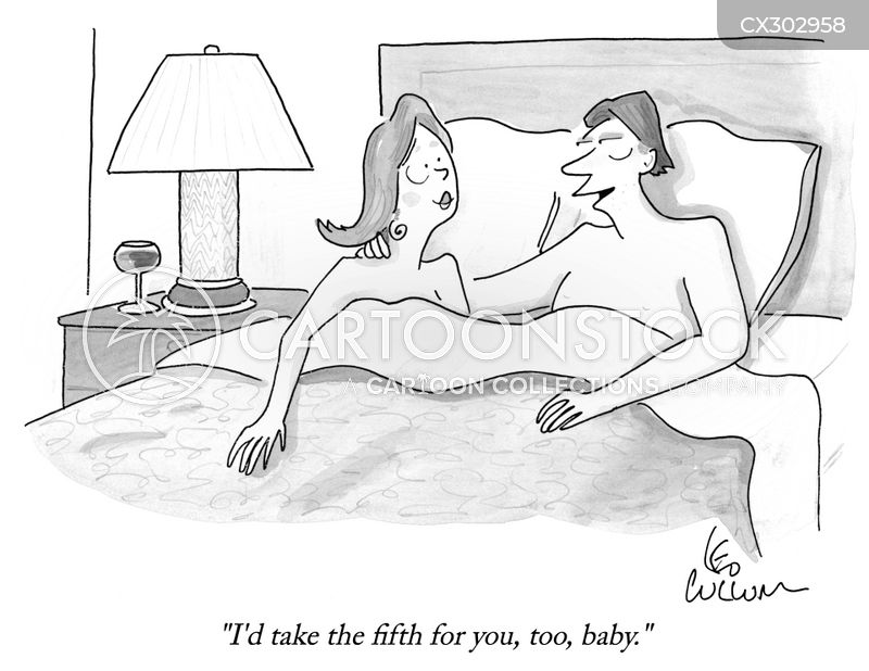 in bed cartoon