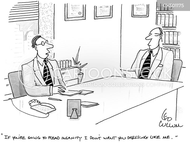 Insanity Plea cartoon