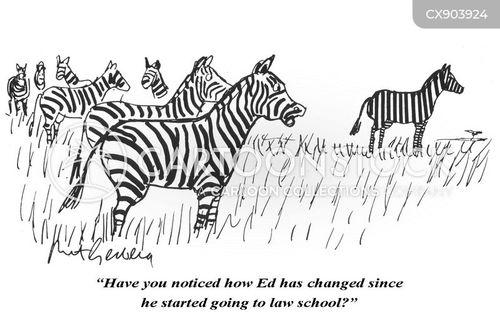 stripes cartoon