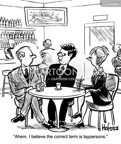 layperson cartoon