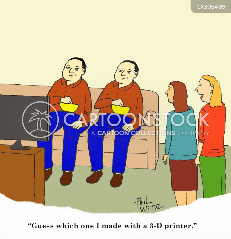 3-d printerstv cartoon