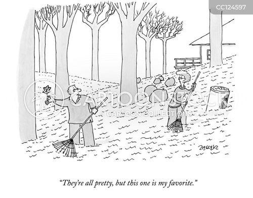 garden work cartoon