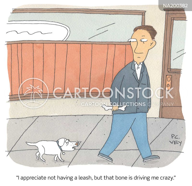 dog walking cartoon