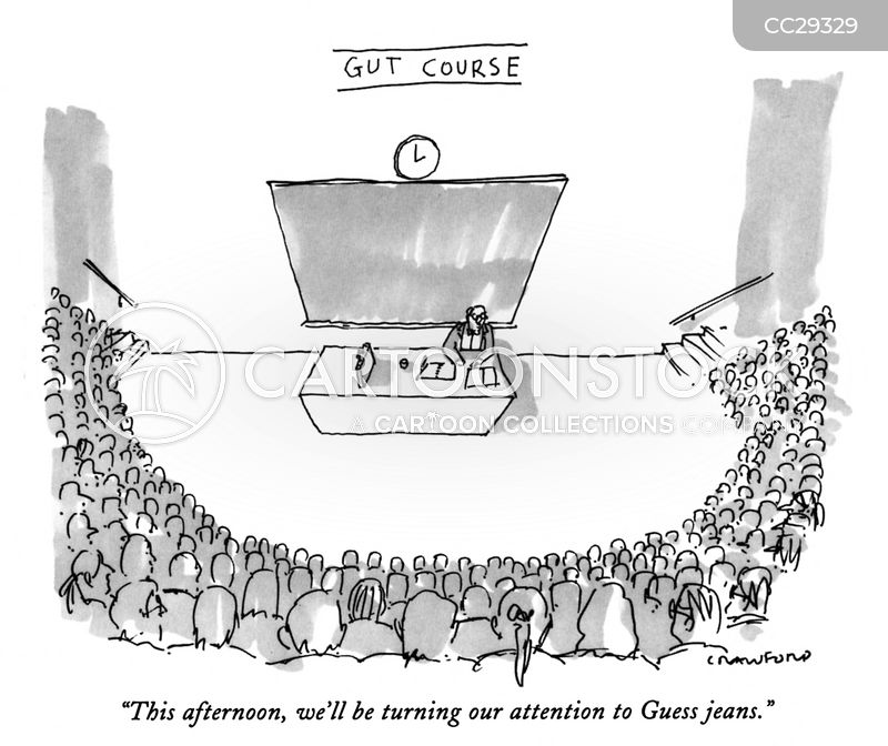 lecture theater cartoon