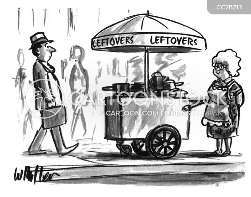 street-food cartoon