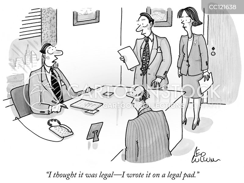 legal paper cartoon