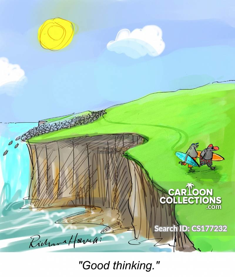 Cliff cartoon
