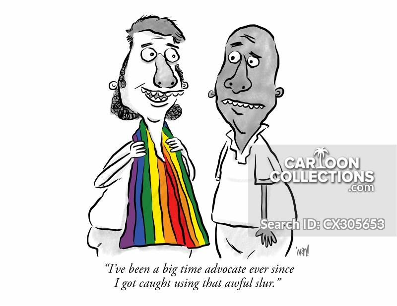 rainbow flags cartoon