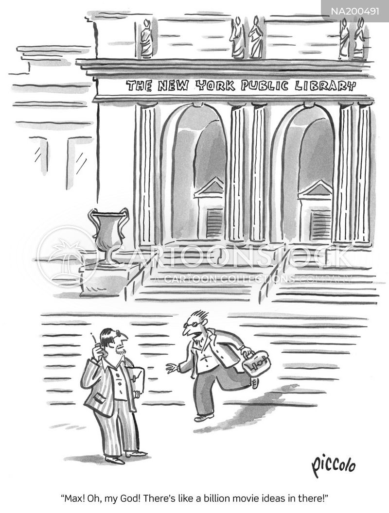 public libraries cartoon