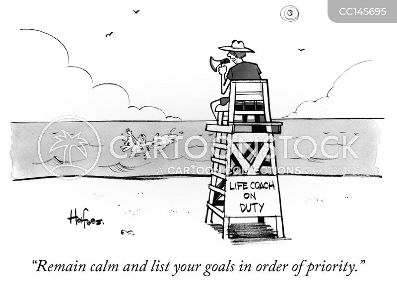 life coaches cartoon