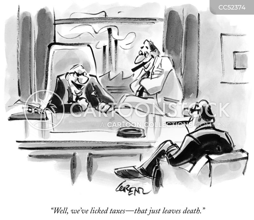 cheating death cartoon