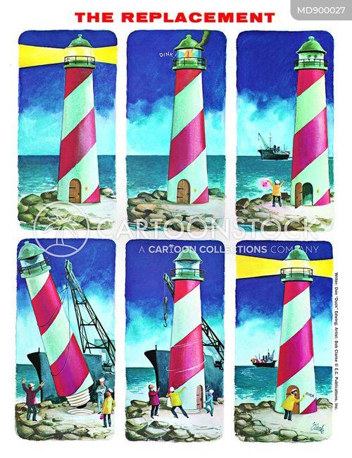 lighthouse cartoon