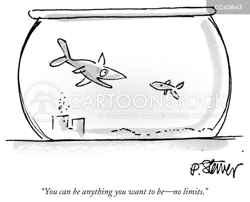 fish tanks cartoon