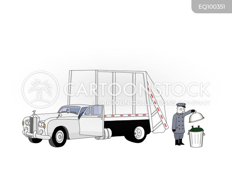 waste collectors cartoon