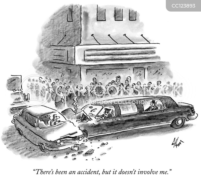 traffic crash cartoon