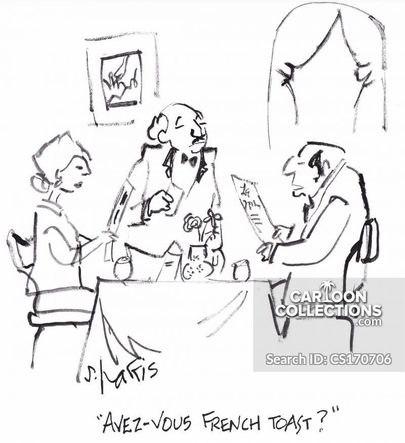 french toasts cartoon