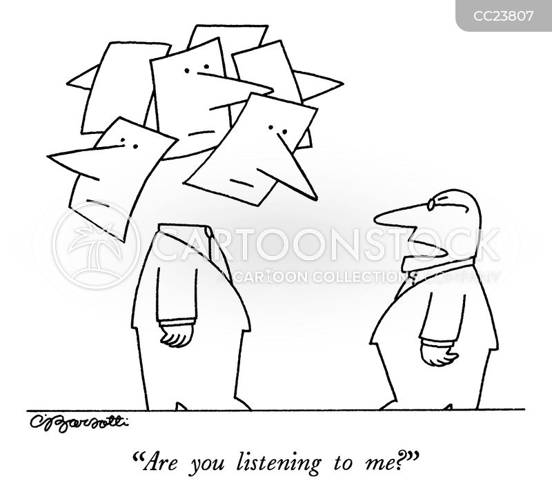 listens cartoon