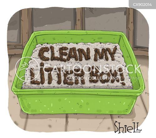 litter cartoon