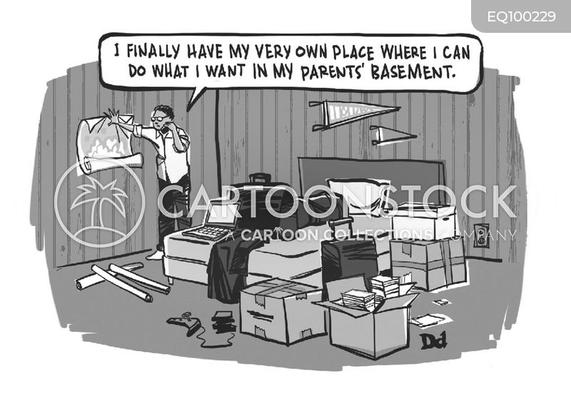 living in parents basement cartoon