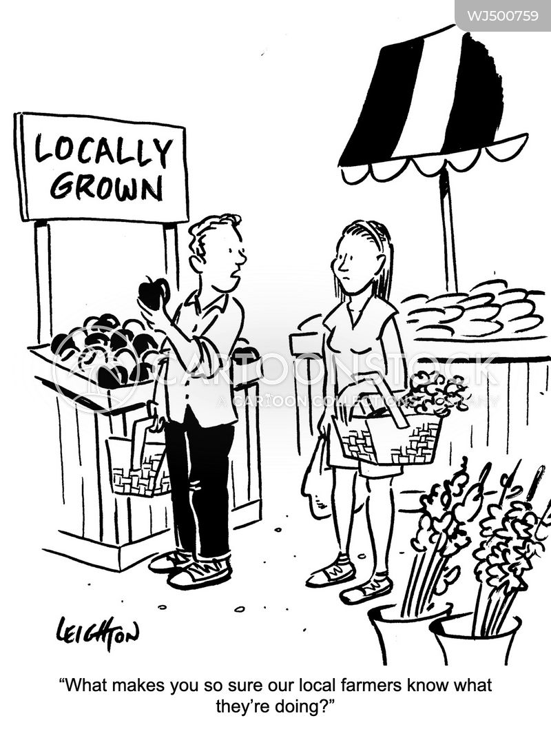 locally sourced cartoon