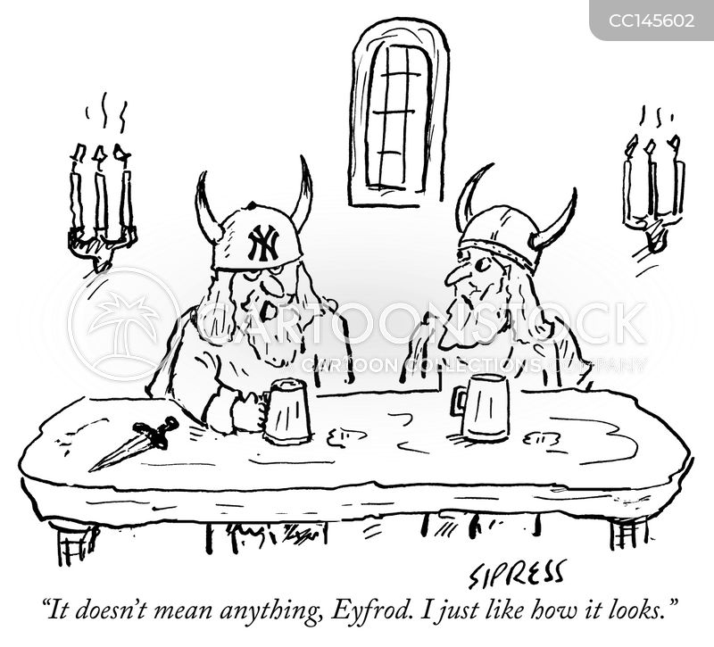 viking symbols cartoon