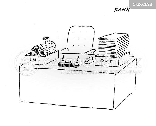 office desks cartoon