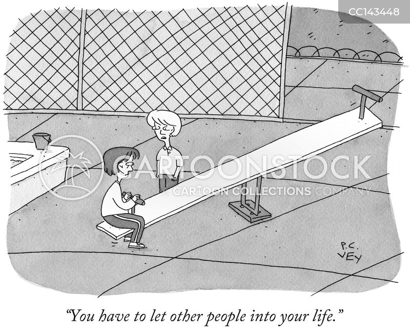 socially isolated cartoon