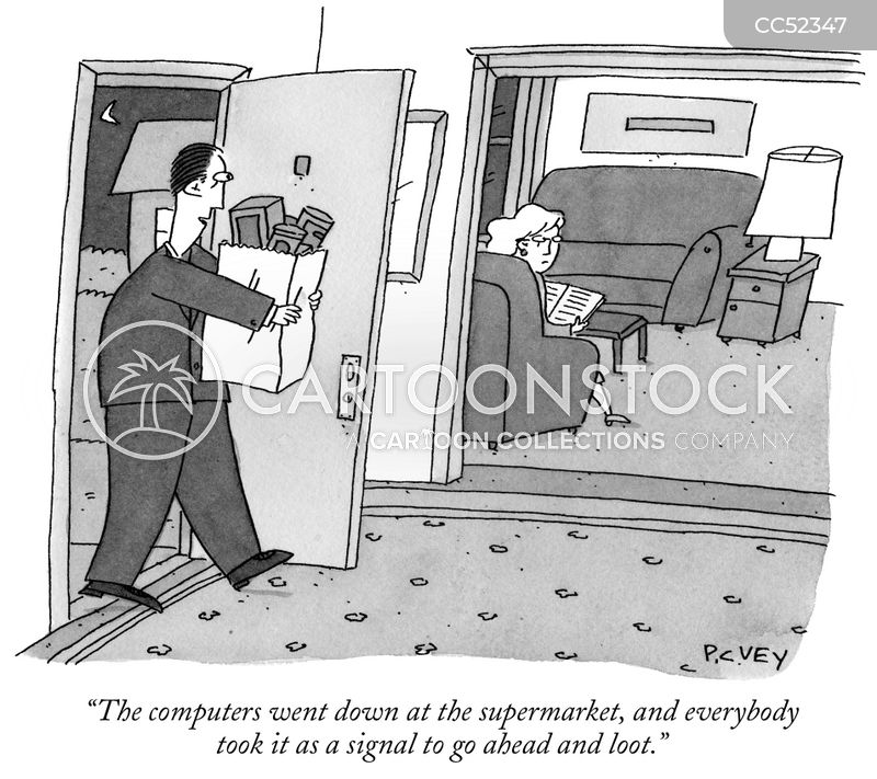 theft cartoon