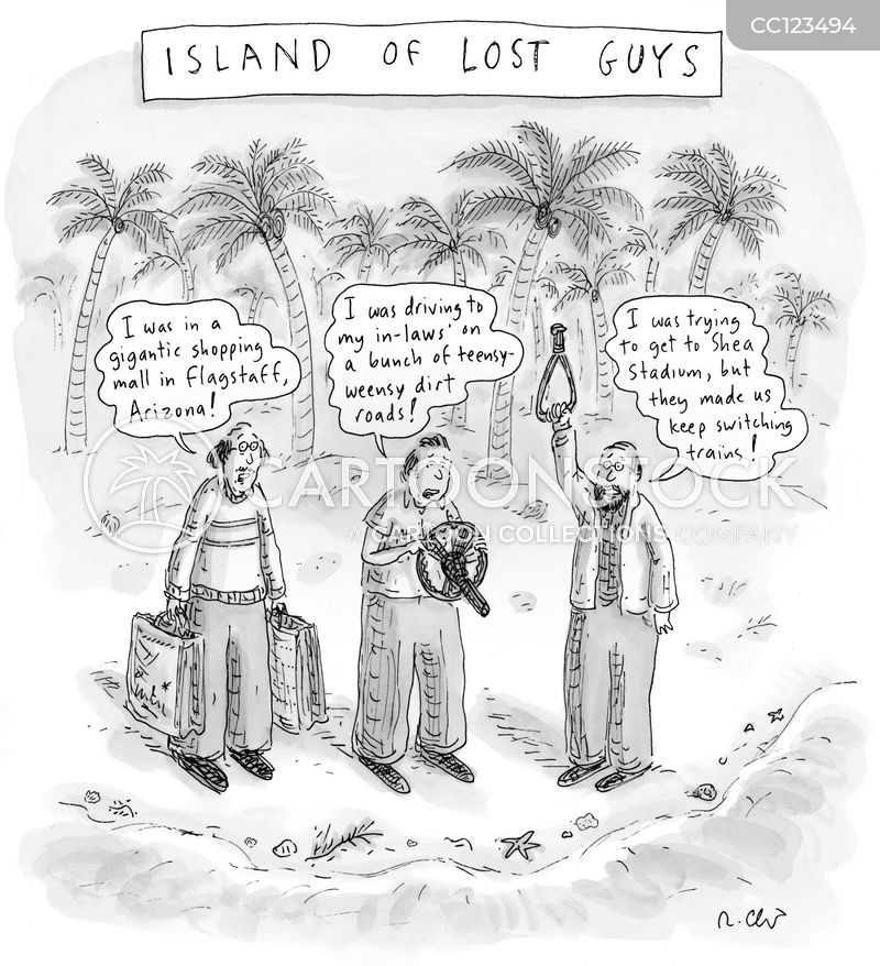 desert islands cartoon