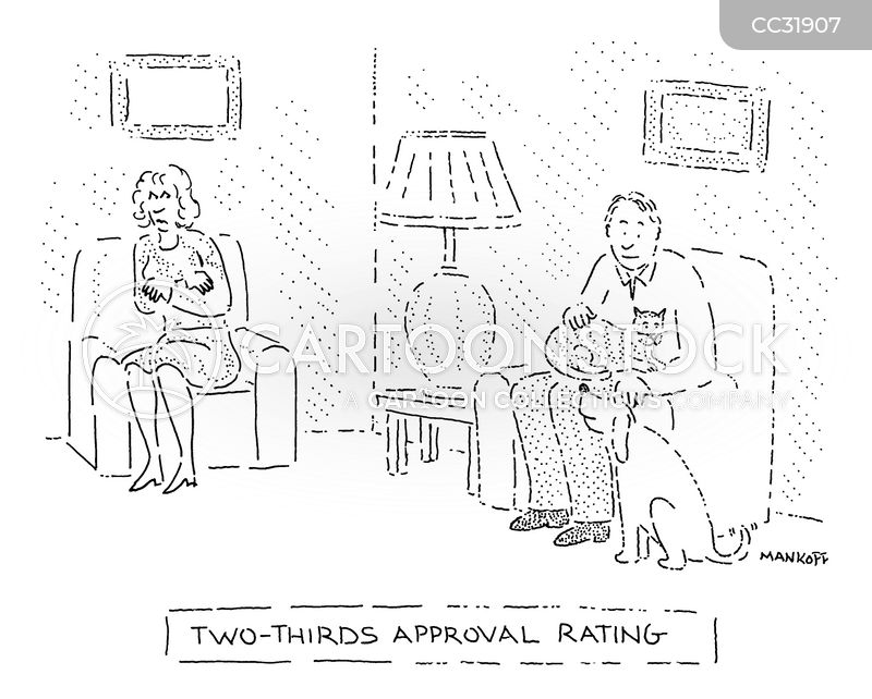 approval rating cartoon