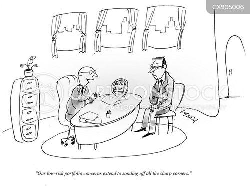 risk avoidance cartoon