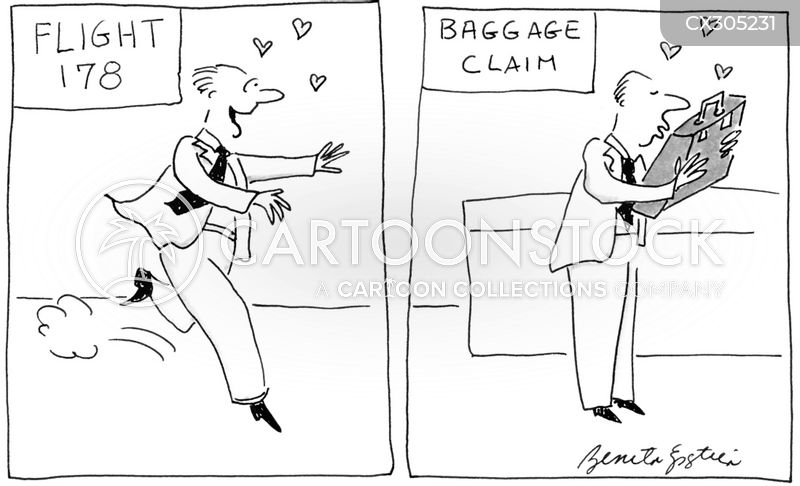 suitcases cartoon