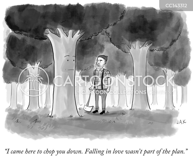 in love cartoon