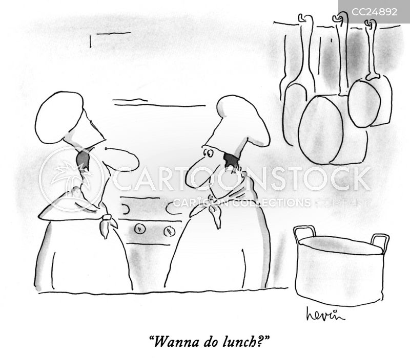 lunch menus cartoon