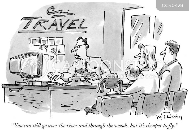 travel bureau cartoon