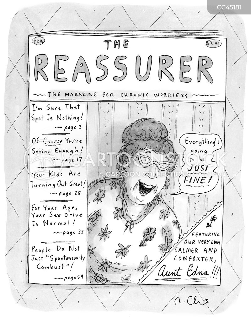 reassure cartoon