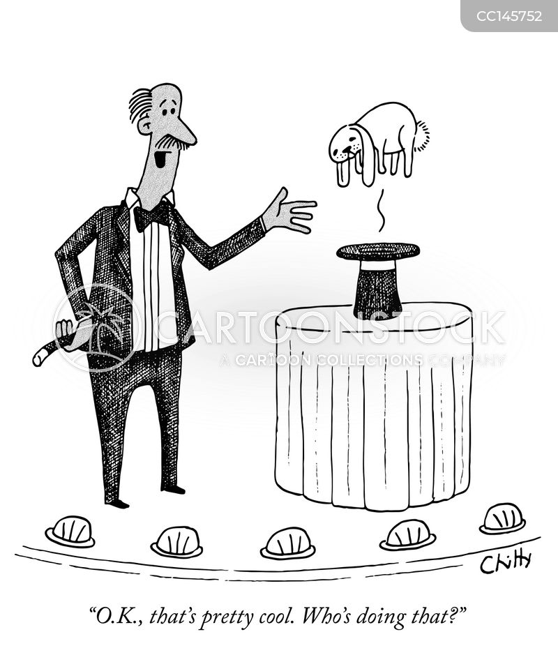 magician cartoon