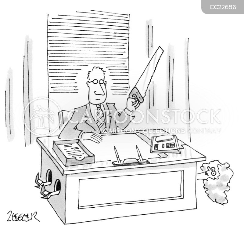 office assistant cartoon