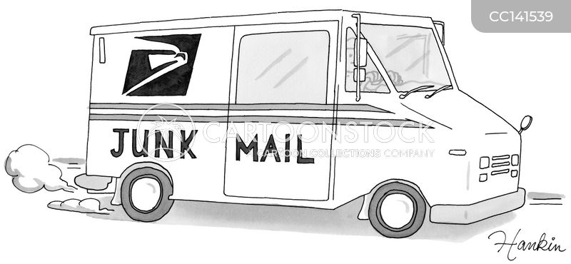 mail cartoon