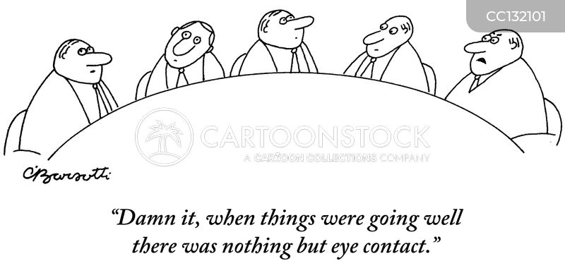 eye contact cartoon