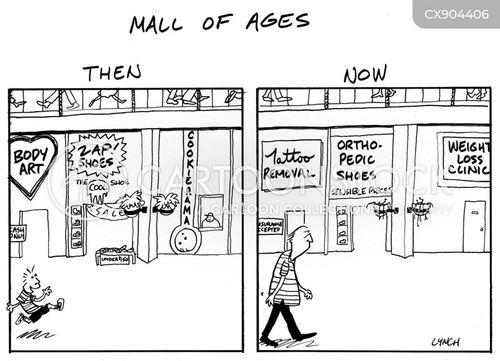 shopping centers cartoon