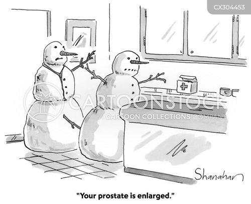 prostate exams cartoon