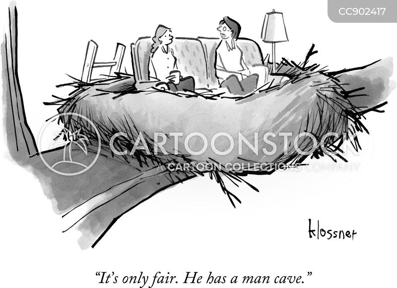 man-caves cartoon